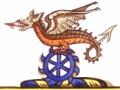 Cartoon for the Dinder Crest