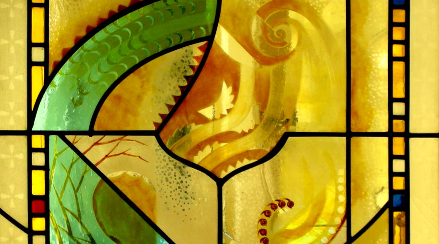 Fibonacci stained glass
