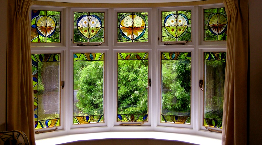 Stained glass bay window by David Williams & Stephen Byrne